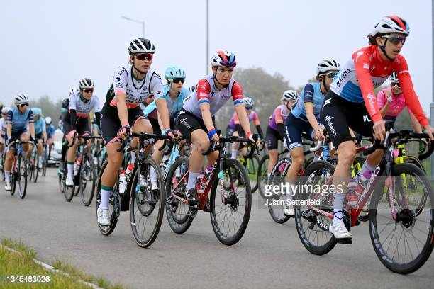 Amber Van Der Hulst of Netherlands and Team Parkhotel Valkenburg and Amy Pieters of Netherlands and Team SD Worx compete during the 7th The Women's...