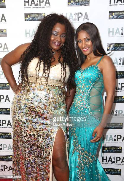 Amber Washington and Tina Weisinger attend the 2018 HAPAwards nomination announcement event on August 2 2018 in Los Angeles California