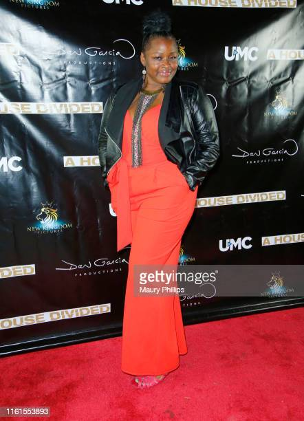 Amber Washington arrives at UMC's A House Divided Screening at Seventy7 North on July 11 2019 in Studio City California