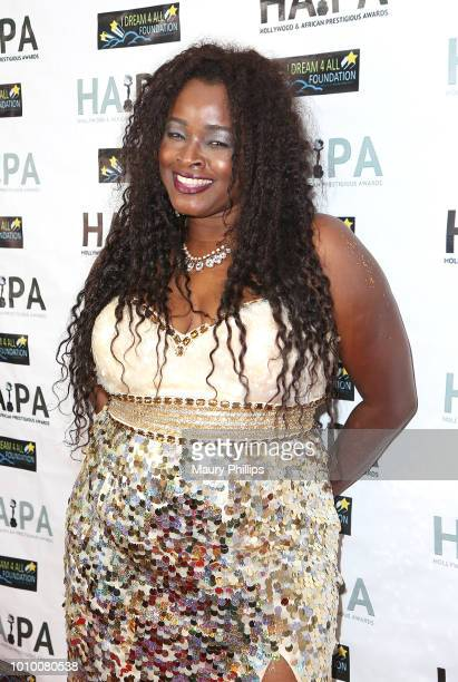 Amber Washington attends the 2018 HAPAwards nomination announcement event on August 2 2018 in Los Angeles California