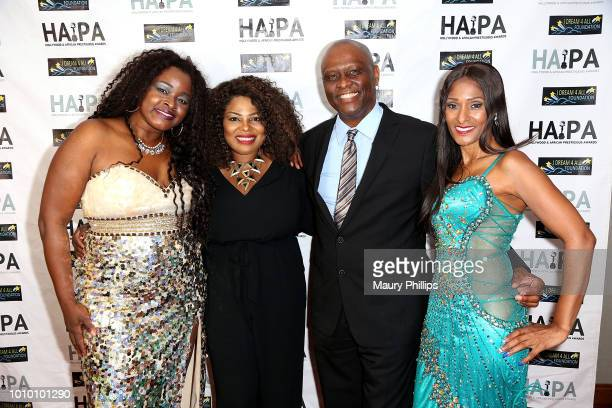 Amber Washington Oghenekaro Itene Tyrone DuBose and Tina Weisinger attend the 2018 HAPAwards nomination announcement event on August 2 2018 in Los...