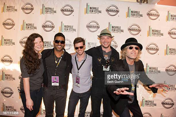 Amber Wilkinson Chebacca Devin Drake Jayson Wall and Big Kenny Alphin attend the 2013 Nashville film festival at Green Hills Regal Theater on April...