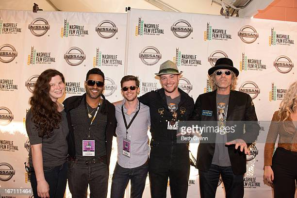 Amber Wilkinson Chebacca Devin Drake Jayson Wall and Big Kenny Alphin attends the 2013 Nashville film festival at Green Hills Regal Theater on April...