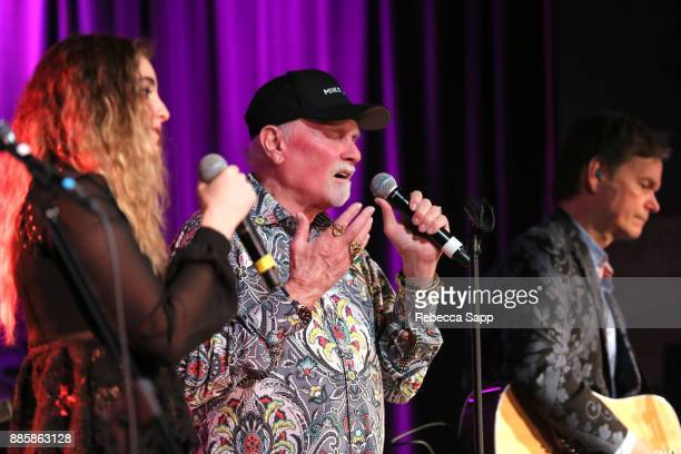 Ambha Love and Mike Love perform at The Drop Mike Love at The GRAMMY Museum on December 4 2017 in Los Angeles California
