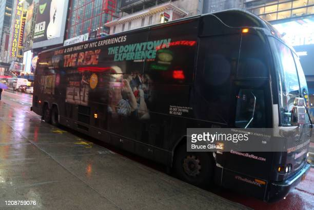 Ambiance as The Ride welcomes it's 1000th Rider on the immersive bus tour of NYC on February 25 2020 in New York City