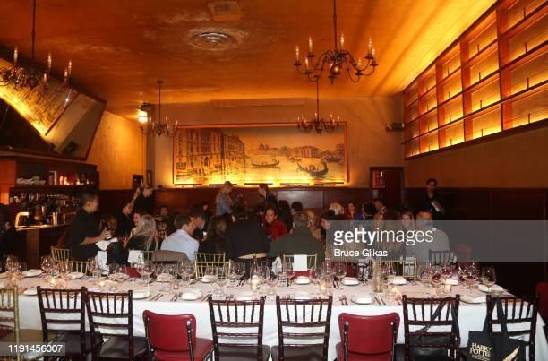 Ambiance at an in between dinner for the opening night of Harry Potter and The Cursed Child Parts One 2 at Tosca Cafe on December 1 2019 in San...