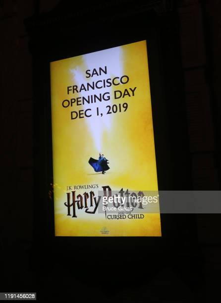 Ambiance at the opening night of Harry Potter and The Cursed Child Parts One 2 at The Curran Theatre on December 1 2019 in San Francisco California