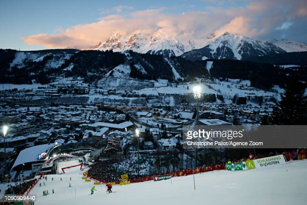 Ambiance during the Audi FIS Alpine Ski World Cup Men's Slalom on January 29 2019 in Schladming Austria