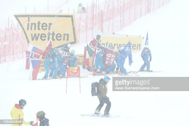 Ambiance during the Audi FIS Alpine Ski World Cup Women's Giant Slalom on October 27 2018 in Soelden Austria