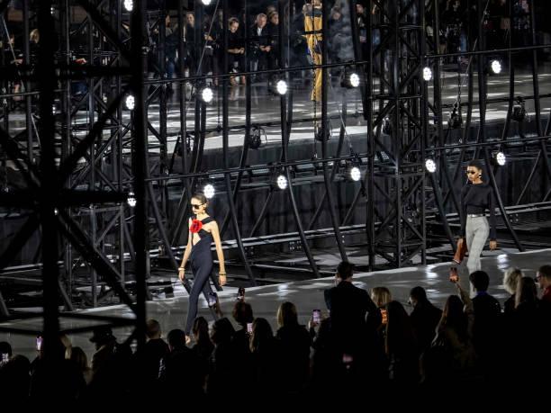 FRA: Ambiance At Saint Laurent - Paris Fashion Week - Womenswear Spring Summer 2022