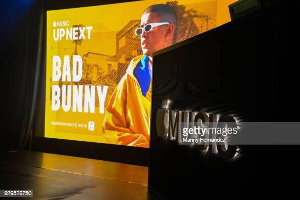 Ambience at Apple Music Celebrates 'Up Next' Artist Bad Bunny with a concert for fans at Bar 1306 in Miami Florida on March 8 2018