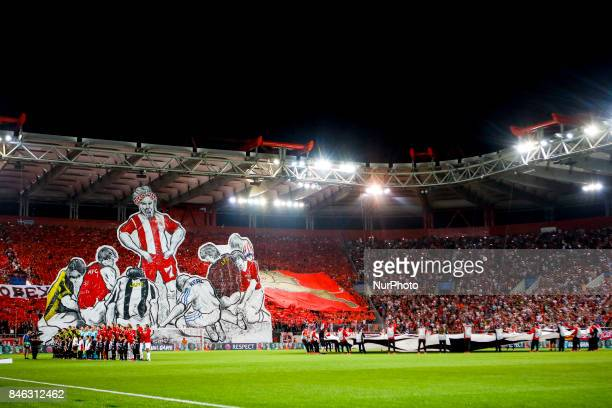 Ambient during the UEFA Champions League Group D match between Olympiacos and Sporting CP at Georgios Karaiskakis Stadium in Piraeus Greece on...