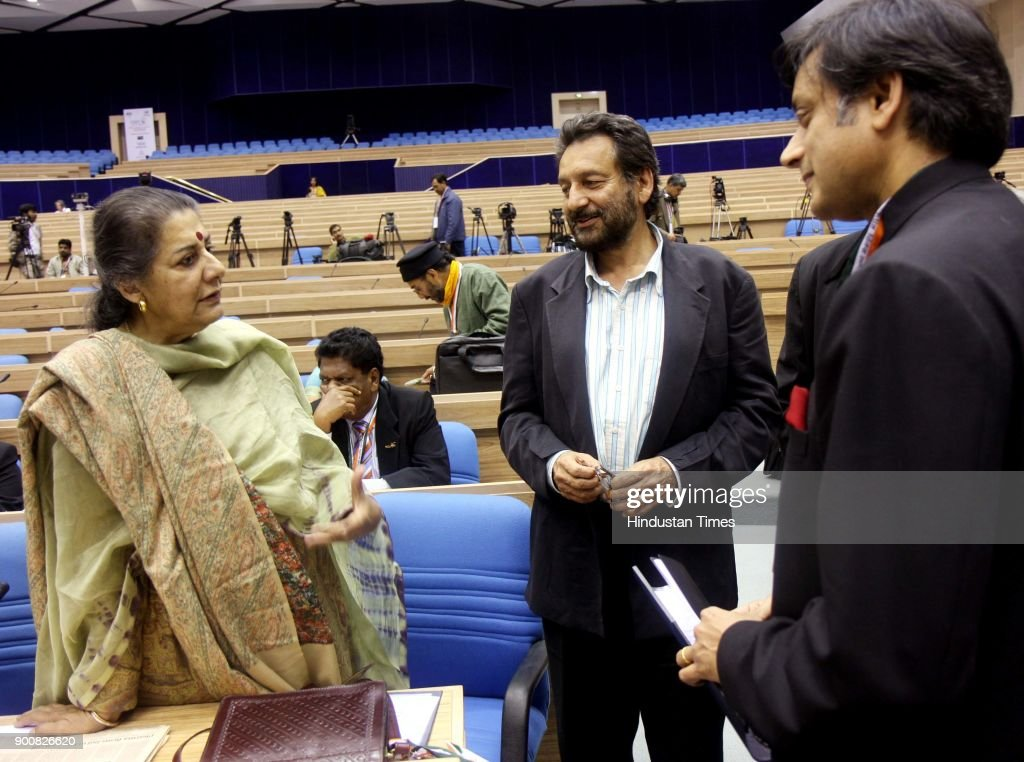 Ambika Soni , Shekhar Kapur and Shashi Tharoor having a word before their session at the Pravasi Bharatiya Divas-2008 at the Vigyan Bhawan on January 8, 2008 in New Delhi, India. Ambika Soni , Shekhar Kapur and Shashi Tharoor having a word before their session at the Pravasi Bharatiya Divas-2008 at the Vigyan Bhawan on January 8, 2008 in New Delhi, India.