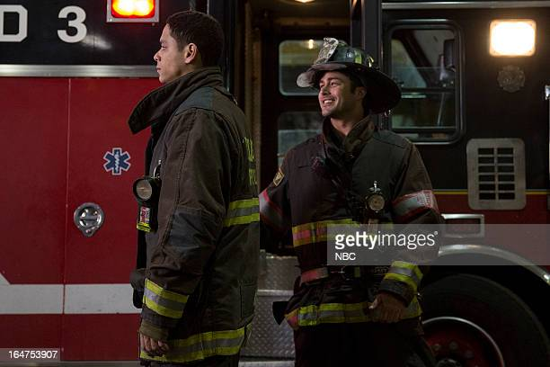 FIRE Ambition Episode 120 Pictured Charlie Barnett as Peter Mills Taylor Kinney as Kelly Severide