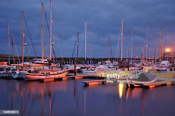 amble marina - northumberland stock photos and pictures