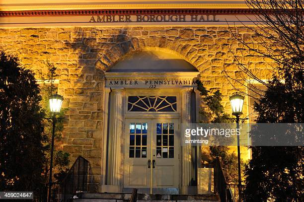 ambler borough hall - montgomery county pennsylvania stock pictures, royalty-free photos & images