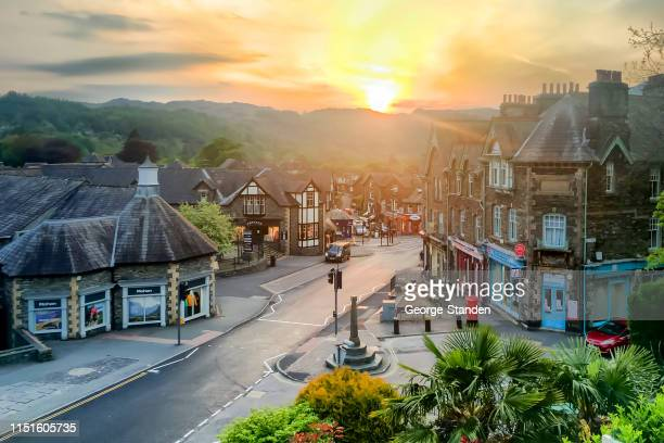 ambleside, het lake district. - lake district stockfoto's en -beelden
