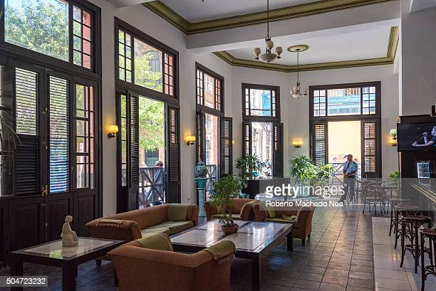 Ambos Mundos or Both Worlds hotel preferred by Ernest Hemingway when visiting Havana The lobby features a collection of Hemigway photos and his...