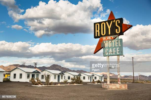 amboy historic hotel sign california usa - amboy california stock photos and pictures