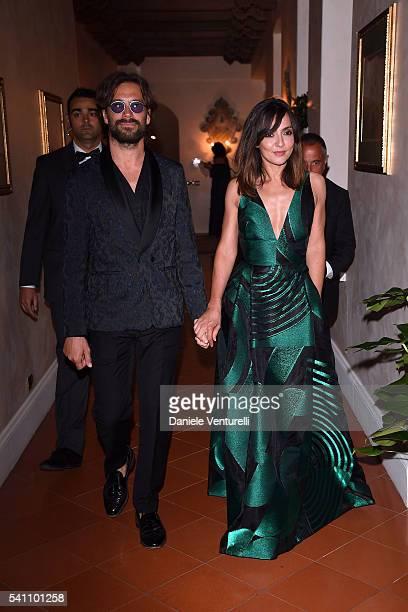 Ambra Angiolini and Lorenzo Quaglia attend Baume Mercier Closing Night 62 Taormina Film Fest on June 18 2016 in Taormina Italy