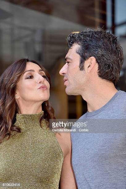 Ambra Angiolini and Luca Argentero attend a photocall for 'Al Posto Tuo' on September 27 2016 in Rome Italy