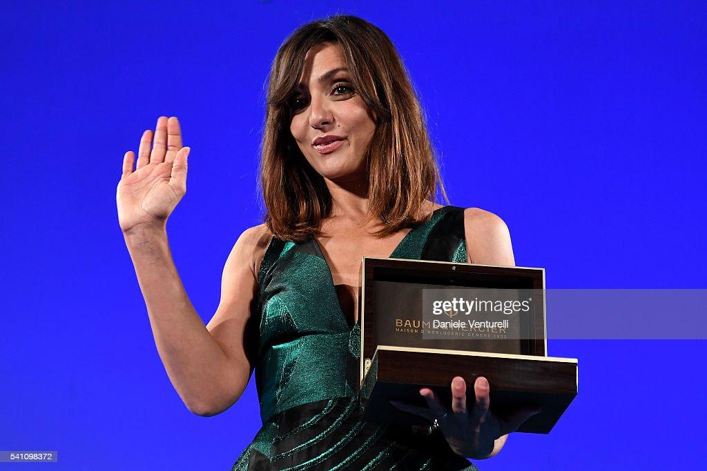 Ambra Angiolini attends Baume & Mercier Closing Night - 62 Taormina Film Fest on June 18, 2016 in Taormina, Italy.