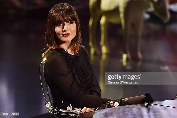 Ambra Angiolini attends 'Che Fuori Che Tempo Che Fa' Tv Show on October 31 2015 in Milan Italy