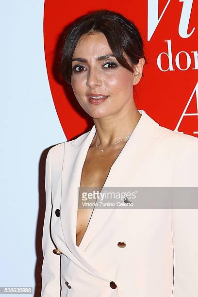 Ambra Angiolini attends Convivio 2016 photocall on June 7 2016 in Milan Italy