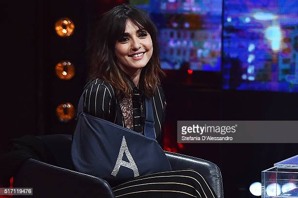 Ambra Angiolini attends E poi c'e' Cattelan Tv Show on March 23 2016 in Milan Italy