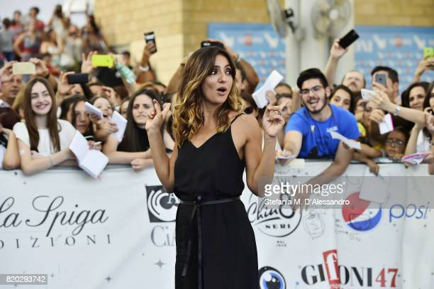 Ambra Angiolini attends Giffoni Film Festival 2017 Day 8 on July 21 2017 in Giffoni Valle Piana Italy