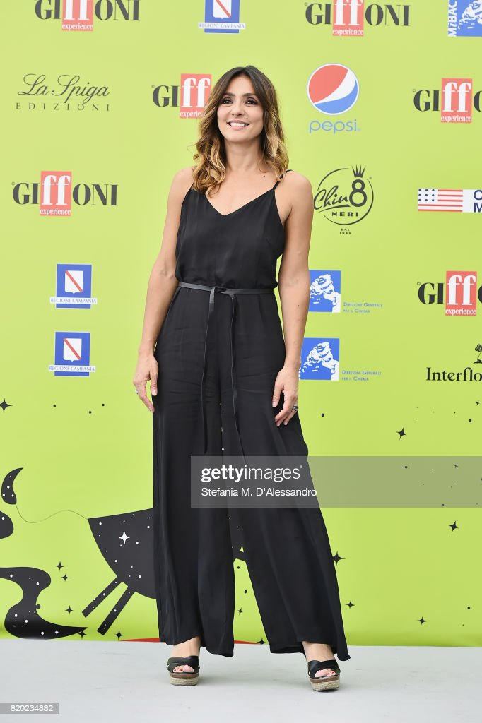 Ambra Angiolini attends Giffoni Film Festival 2017 Day 8 Photocall on July 21, 2017 in Giffoni Valle Piana, Italy.