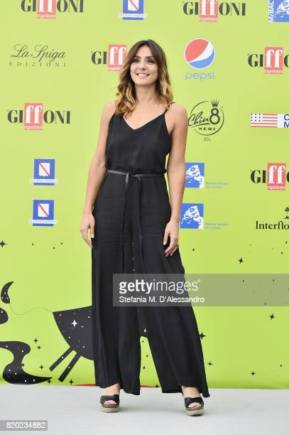 Ambra Angiolini attends Giffoni Film Festival 2017 Day 8 Photocall on July 21 2017 in Giffoni Valle Piana Italy
