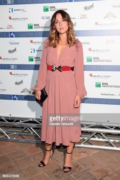 Ambra Angiolini attends Nastri D'Argento 2017 Awards Ceremony on July 1 2017 in Taormina Italy