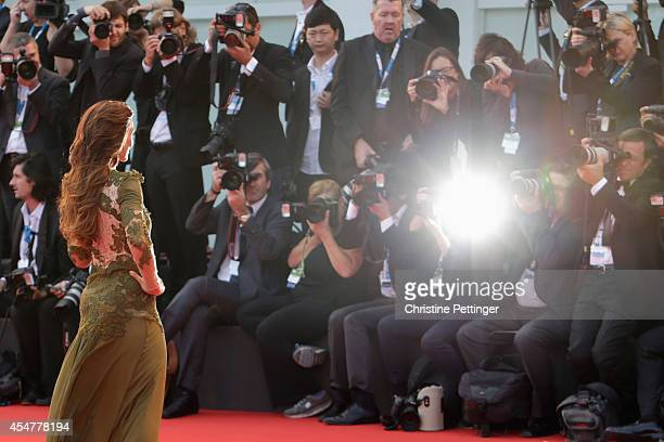 Ambra Angiolini attends the Closing Ceremony of the 71st Venice Film Festival on September 6 2014 in Venice Italy