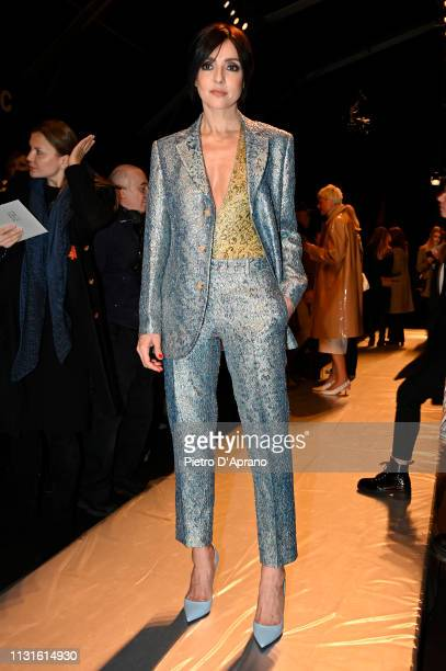 Ambra Angiolini attends the Ermanno Scervino show at Milan Fashion Week Autumn/Winter 2019/20 on February 23 2019 in Milan Italy