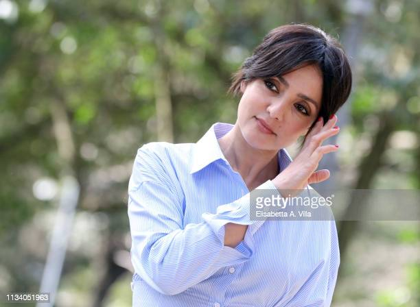Ambra Angiolini attends the photocall for Il Silenzio Dell'Acqua at Villa Borghese on March 06 2019 in Rome Italy