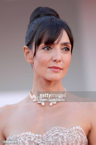 """Ambra Angiolini attends the red carpet of the movie """"Freaks Out"""" during the 78th Venice International Film Festival on September 08, 2021 in Venice,..."""