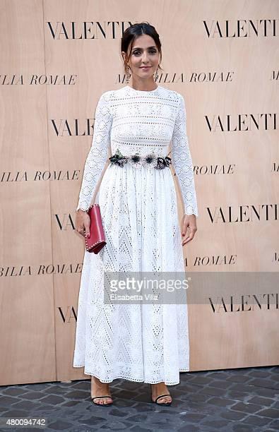 Ambra Angiolini attends the Valentinos 'Mirabilia Romae' haute couture collection fall/winter 2015 2016 at Piazza Mignanelli on July 9 2015 in Rome...