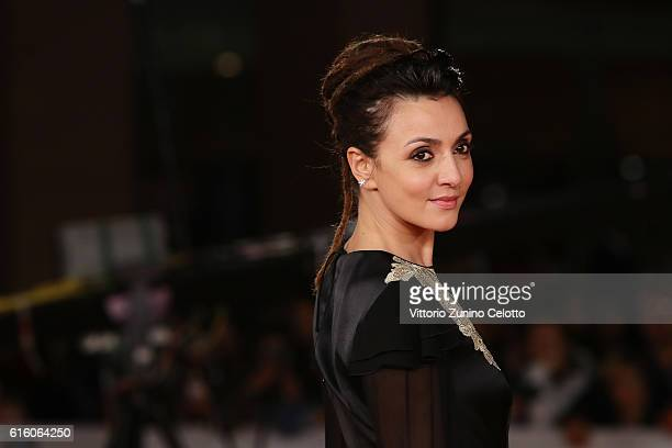 Ambra Angiolini walks a red carpet for '7 Minuti' during the 11th Rome Film Festival at Auditorium Parco Della Musica on October 21 2016 in Rome Italy