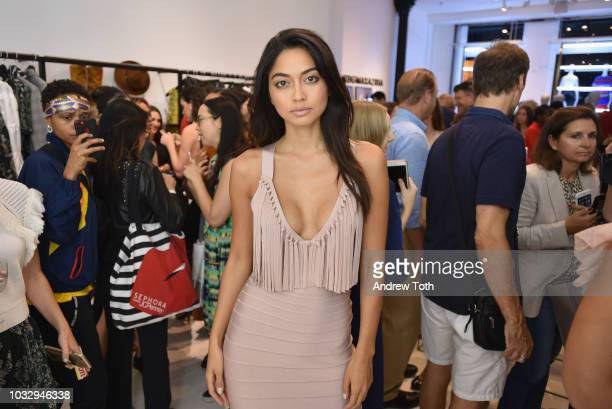 Ambra Battilana Guiterrez attends the celebration of the BCBGMAXAZRIA SoHo store opening with Kate Young Bernd Kroeber and InStyle on September 13...
