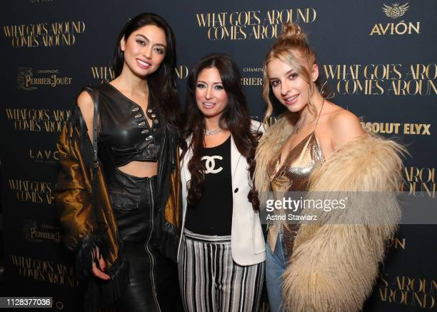 Ambra Battilana Gutierrez and Sophie Beem attend the What Goes Around Comes Around Madison Avenue Flagship Opening Celebration After Party with...