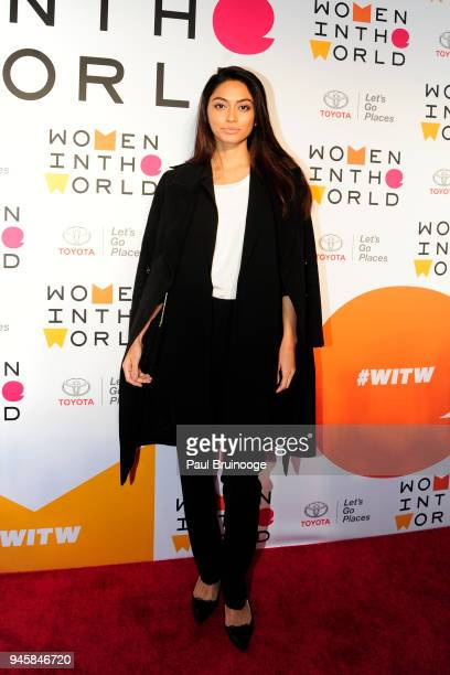 Ambra Battilana Gutierrez attends the 2018 Women In The World Summit at David H Koch Theater Lincoln Center on April 12 2018 in New York City
