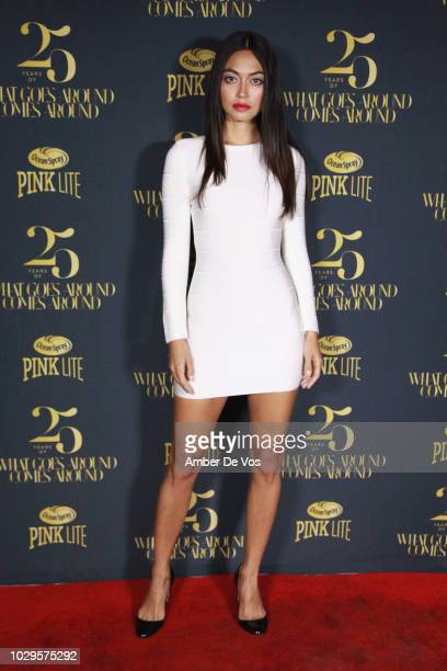 Ambra Battilana Gutierrez attends the What Goes Around Comes Around 25th Anniversary Party at Gitano on September 8 2018 in New York City