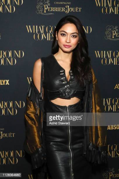 Ambra Battilana Gutierrez attends the What Goes Around Comes Around Madison Avenue Flagship Opening Celebration with Pernod Ricard on February 08...