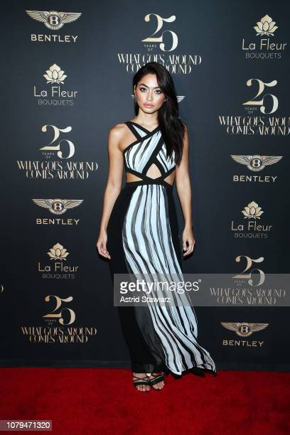 Ambra Battilana Gutierrez attends What Goes Around Comes Around 25th Anniversary Celebration At The Versace Mansion With a Retrospective Tribute To...