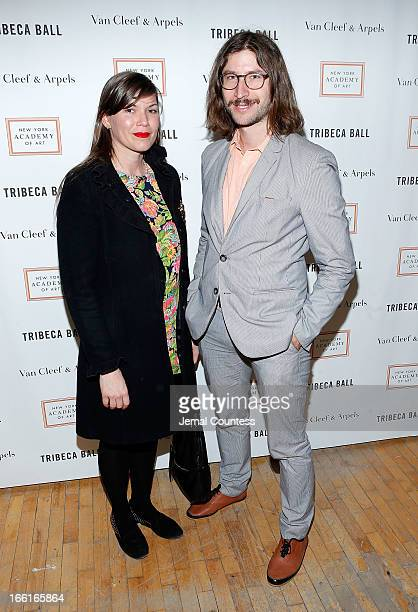 Ambre Kelly and Andrew Gori attend the 2013 Tribeca Ball at New York Academy of Art on April 8 2013 in New York City