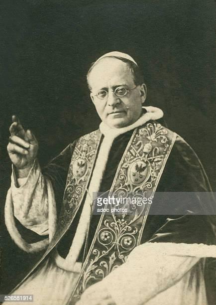 Ambrogio Damiano Achille Ratti becaming Pope Pius XI born in Desio Ca 1930