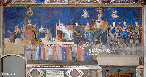 Ambrogio Lorenzetti Allegory of Good and Bad Government Good Government fresco 13389 Palazzo Pubblico Siena Italy