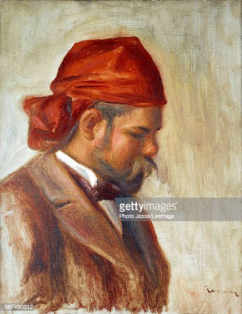 Ambroise Vollard in a red scarf art dealer by Pierre Auguste Renoir circa 1899 Oil on canvas30 x 025 m Musee de la Ville de Paris Musee du...