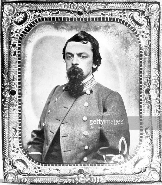 Ambrotype portrait of a Confederate Captain set in a metal frame Photograph circa 1860s